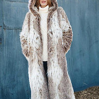 Russian Lynx Hooded Coat | Fabulous-Furs