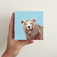Brown Bear / Mini Art Block
