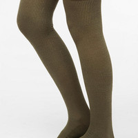 Classic Ribbed Thigh-High Sock