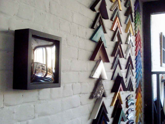 Convex Mirror Square & Boxy Frame by TheFrameAndMirror on Etsy