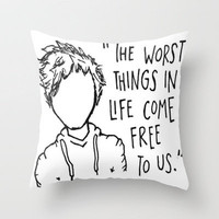 Ed Sheeran A Team Lyrics and Cartoon Throw Pillow by xjen94 | Society6