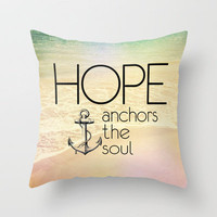 Hebrews 6:19 Throw Pillow by Pocket Fuel | Society6