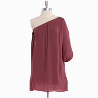 i&#x27;ll make it anywhere one shoulder tunic in rose - &amp;#36;39.99 : ShopRuche.com, Vintage Inspired Clothing, Affordable Clothes, Eco friendly Fashion