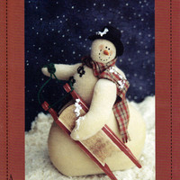 Snowman Doll Pattern: Side Slope from Threads That Bind