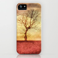 ATMOSPHERIC TREE - The golden sunset iPhone Case by ☘ VIAINA | Society6