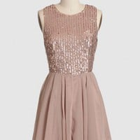 cascading light sequined dress at ShopRuche.com