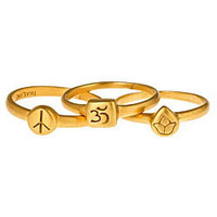 Satya Jewelry Gold Mini Stackable Rings - Max and Chloe