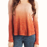 ombre-sweater RUST - GoJane.com