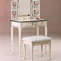 Vanity Set in Natural White Finish by Coaster Furniture