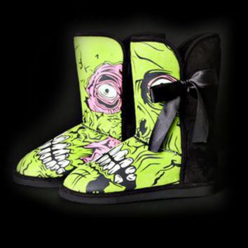Ladies Zombie Stomper Medium Fug Boot at Iron Fist International INC. in BLACK/GREEN