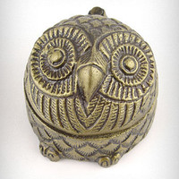 Who's a Hoot Brass Owl Box | PLASTICLAND