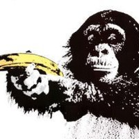 Amazon.com: (24x36) Monkey Banana Shoot Art Print Poster: Home & Kitchen