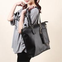 2012 Korean Fashion Oxhide Leather Shoulder Bag with Wallet,Cheap in Wendybox.com