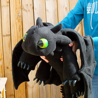 Toothless Plush Dragon with Fish