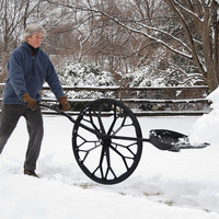 Wheeled Snow Wolf®: Shovel Clears Heavy Snow Faster, Safer And Easier - Plow & Hearth