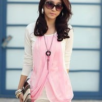 Vogue Chiffon Splicing Cotton Pink Dresses : Wholesaleclothing4u.com