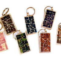 Mosaic Keychain, Stocking Stuffer