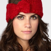 Cozy Knit Headband With Bow
