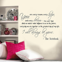 Custom sized Notebook Quote 22 x 40""