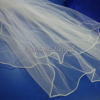 Veils, Pearl edge veils, finger tip veils, wedding veils, bridal veils, two tiers veils