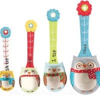 SNOWY OWLS MEASURING SPOON SET