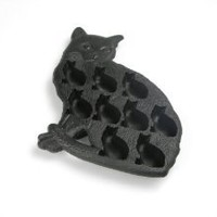Lekue Classic Cat Ice Cube Tray, Black