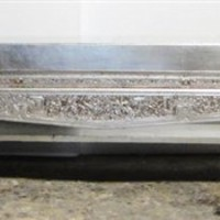 Bench Opium Bed Qing Dynasty Hand Carving Silver Metalic