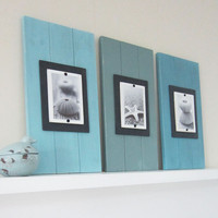 Set of Three Long Cottage Plank Frames with by ProjectCottage