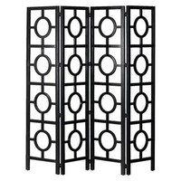 Target:Room Divider with Circle Pattern - Black