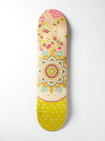 Free People Limited Edition Free People Printed Skateboard