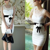 W3LE New Beautiful Sexy Women Lady Party Ball White Clubbing Cocktail Mini Dress