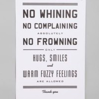 UrbanOutfitters.com &gt; No Whining Print by Hammerpress Print