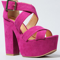 The Van Buren Shoe in Raspberry