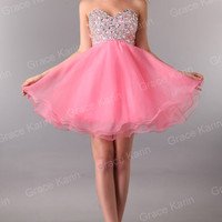 IN 3Color Short Formal Prom Party Ball Mini Cocktail Evening Dress Wedding Dress