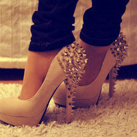Spiked Platform High Heels