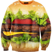 Mr. GUGU &amp; Miss GO: Hamburger Sweatshirt Unisex, at 9% off!