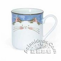 Blue Fortune Cat Mugs