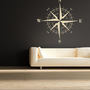 Compass Rose Nautical Vinyl Wall Decal