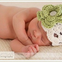 Newborn Boutique Hat with 2 Interchangeable Flowers - FREE SHIPPING by Little Sugar Babies