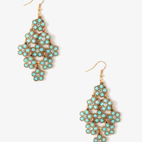 Shimmering Daisy Dangle Earrings