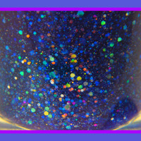 Moonstruck: hand mixed glitter nail polish Full size .5 oz. Coco Allure
