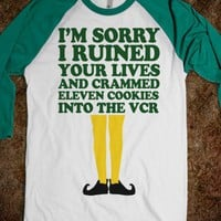 I&#x27;m Sorry I Ruined Your Lives (Buddy Elf Baseball Shirt) - Fun Movie Shirts