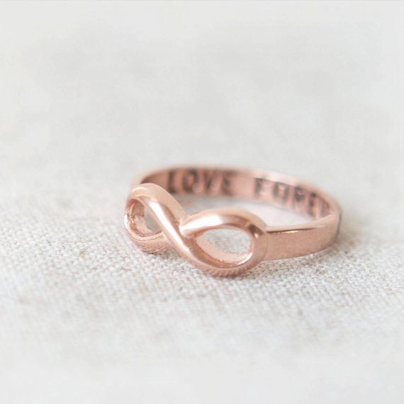 Love Forever Infinity Ring in pink gold