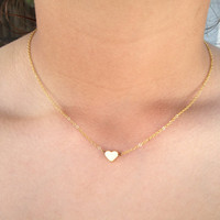 Personalized Gold Heart Necklace