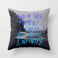 Infinite (The Perks of Being a Wallflower) Throw Pillow by Leah Flores | Society6
