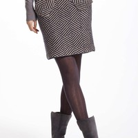 Gridslant Knitted Skirt