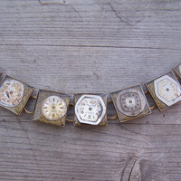 Antique watch dial bracelet - one of a kind