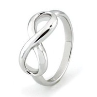 Amazon.com: Sterling Silver Infinity Ring - Available Size: 4, 4.5, 5, 5.5, 6, 6.5, 7, 7.5, 8, 8.5, 9, 9.5, 10: Jewelry