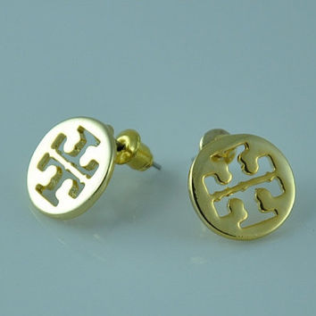 Tiny Tory Burch inspired stud earrings - Gold Plated