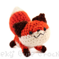 Red Fox Amigurumi - Crochet plush toy - MADE TO ORDER